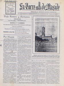 LA TORRE DE MASIDE- Ex. Agosto 1921. Reducido